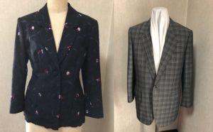 女性と男性のジャケット